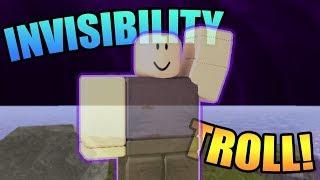 INVISIBILITY TROLLING! | ROBLOX: Booga Booga