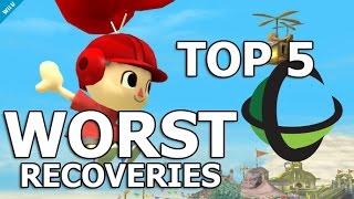 Top 5 WORST Recoveries - Super Smash Bros. Wii U