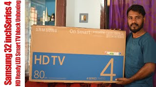 Samsung 32 inch Series 4 HD Ready LED Smart TV black Unboxing and Review
