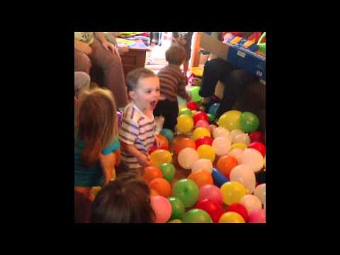 Balloon Drop At Griffin Birthday Party YouTube