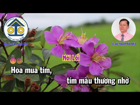 Karaoke: HOA MUA TÍM  - Dây Đào - Tác Giả: Nguyễn Hữu Nghĩa