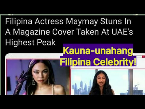 MAYMAY ENTRATA is a FIRST FILIPINA CELEBRITY in a FAMOUS ENTERTAINMENT ONLINE MAGAZINE..