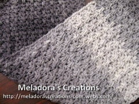 Mesh Stitch Scarf Left Handed Crochet Tutorial Great Scarf For