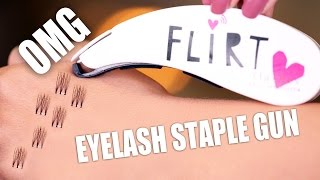 EYELASH STAPLE GUN ... OMG !!!
