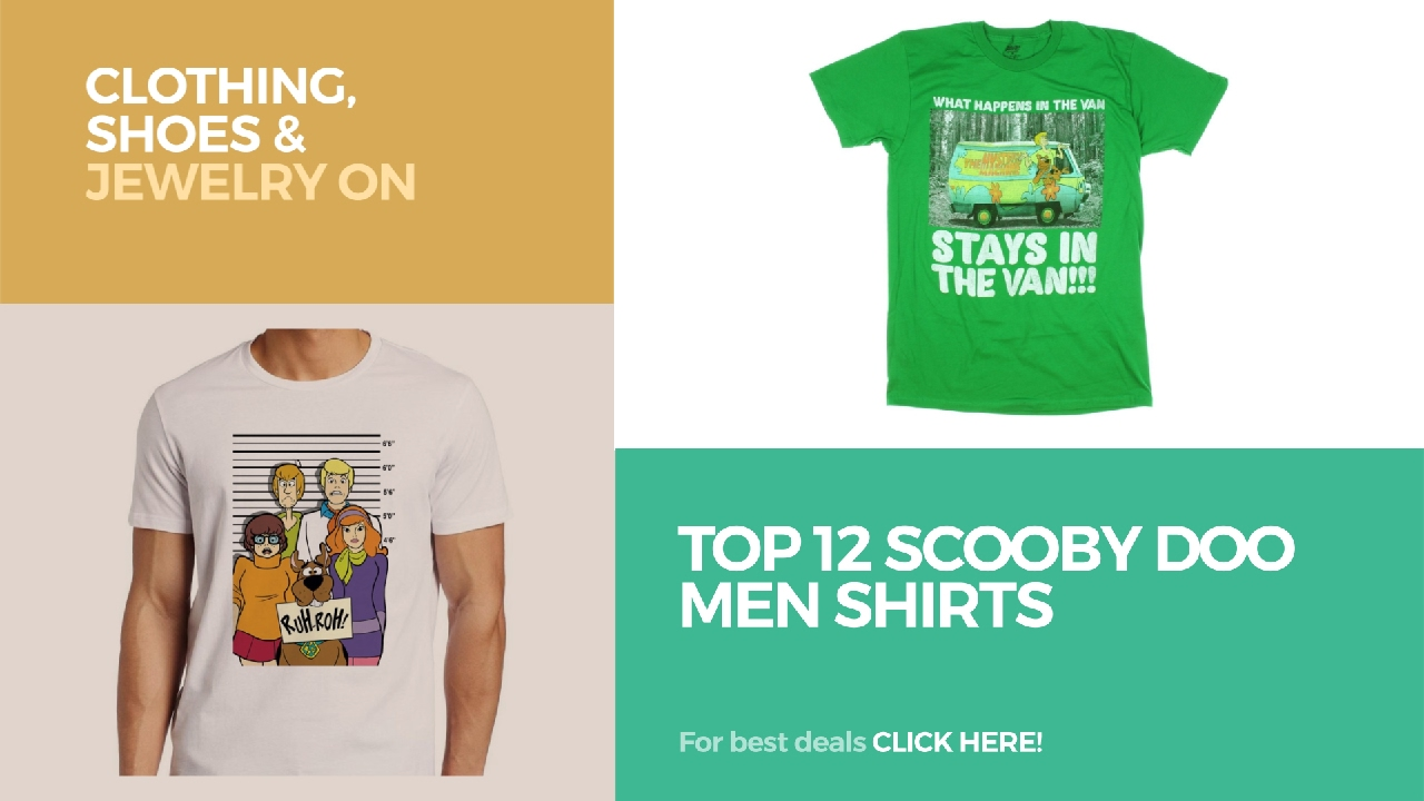 a9d5bd7a Top 12 Scooby Doo Men Shirts // Clothing, Shoes & Jewelry On Amazon. Best Graphic  Tees