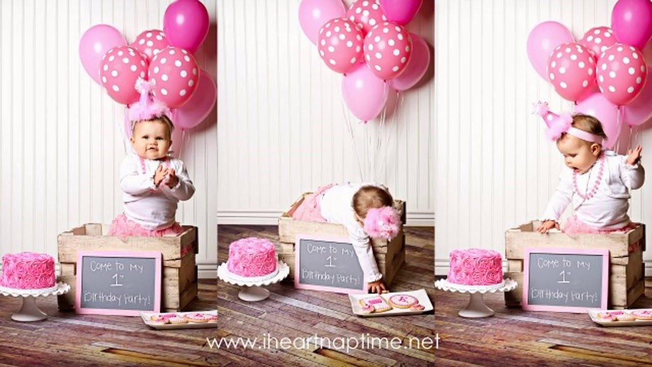 First birthday party decor ideas for girls YouTube