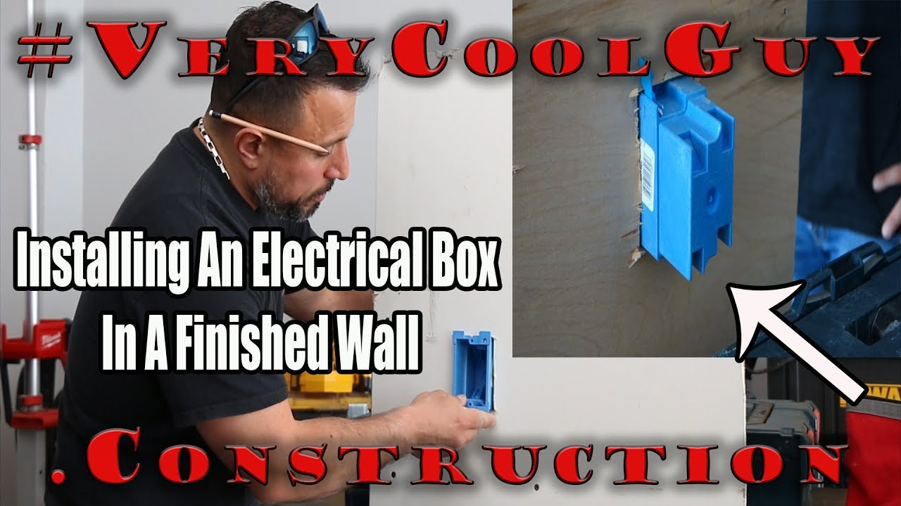 Best Way To Install An Electrical Box In Existing Wall Youtube Receptacle Wiring With Junction