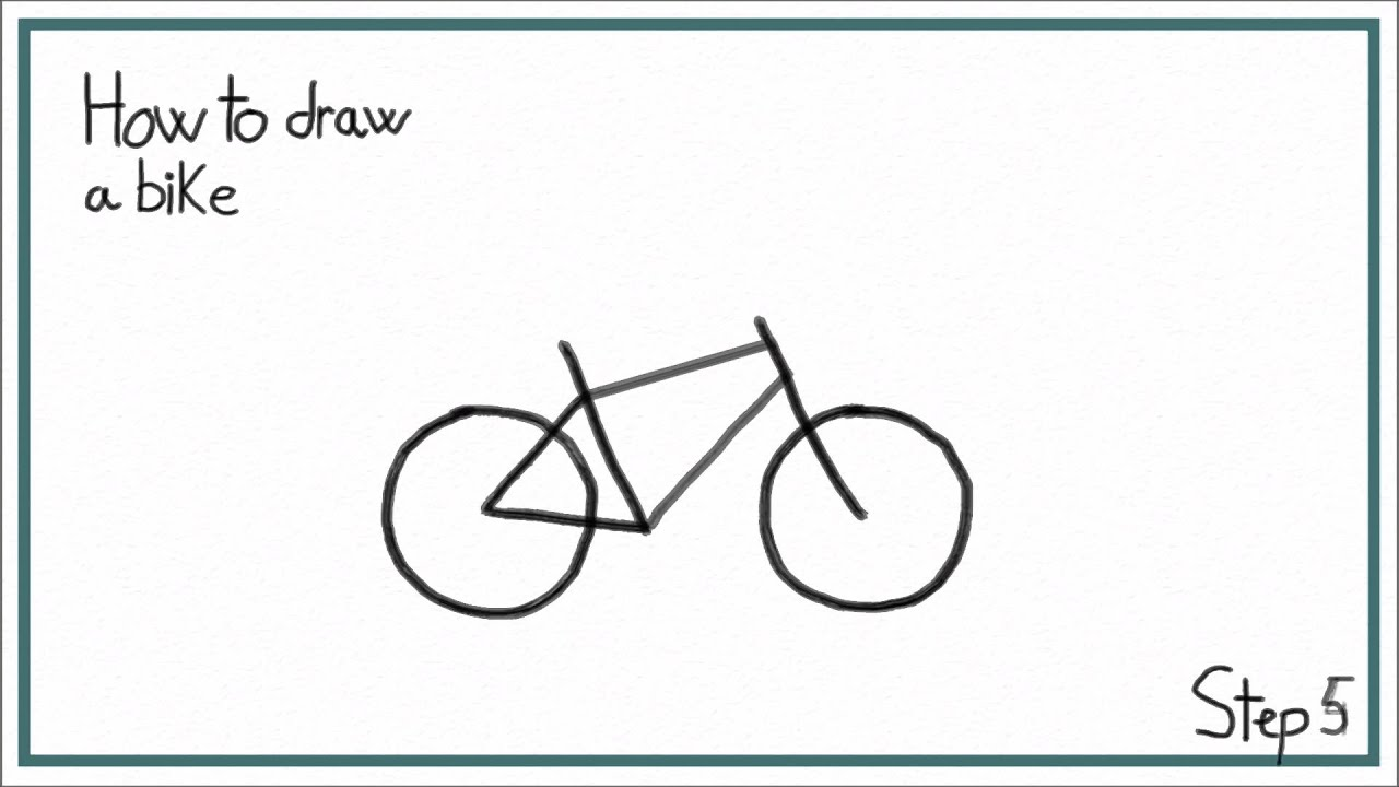 how to draw a bike in 7 steps easy