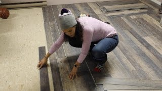 How to Install Vinyl Flooring Over Tile - Thrift Diving