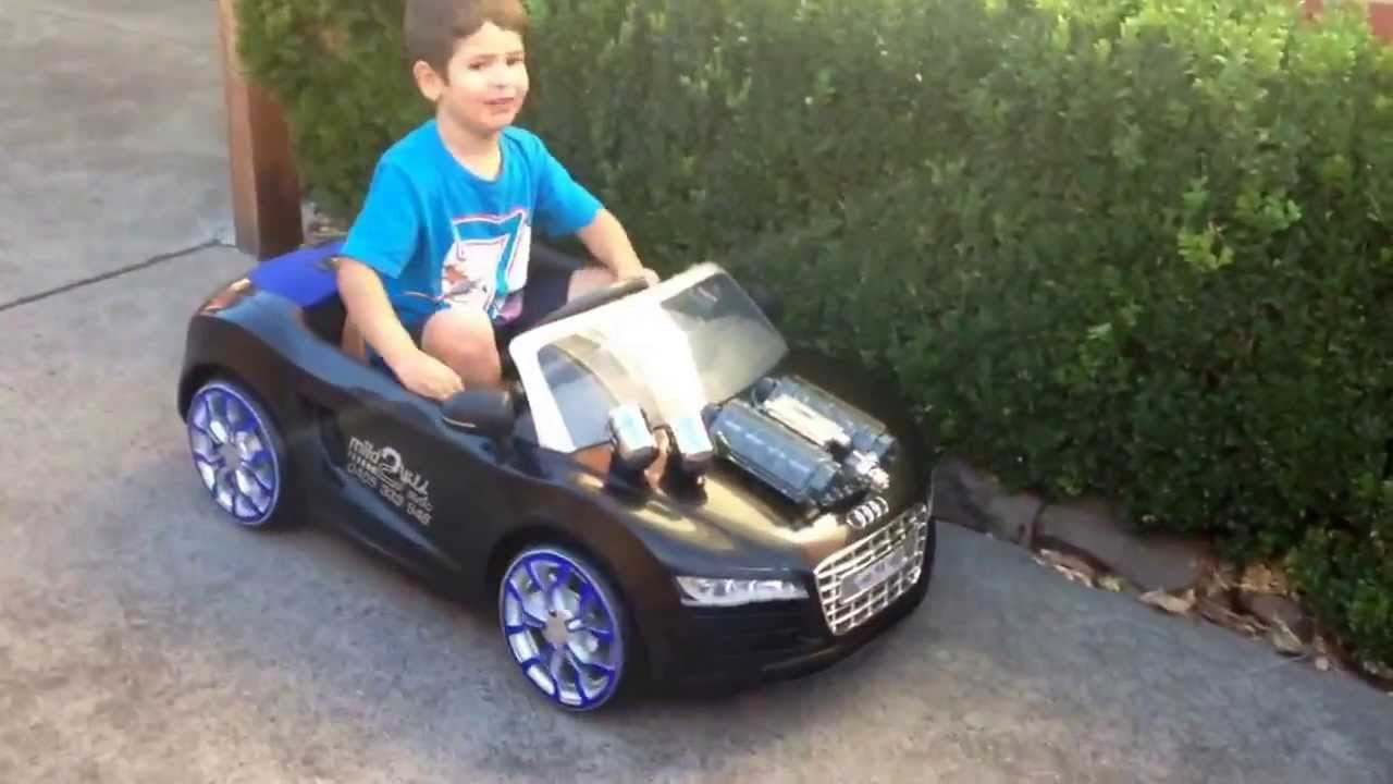 Audi R Toy YouTube - Audi r8 6v car