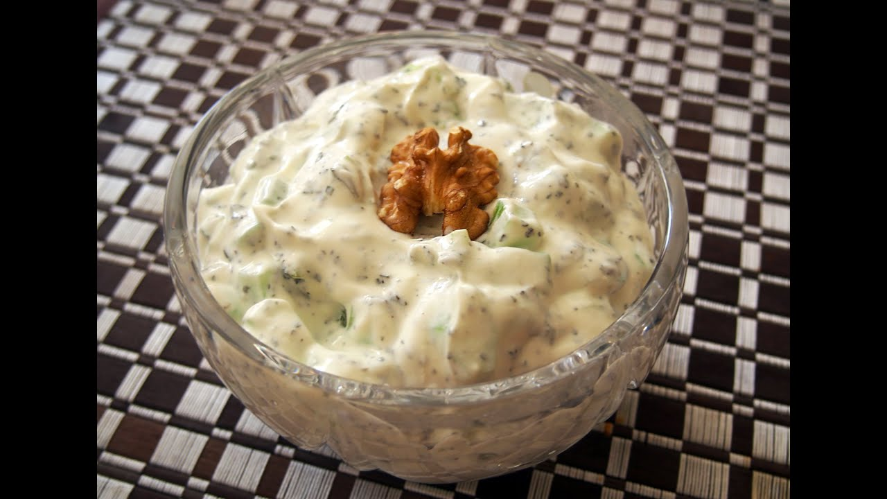 Yogurt & Cucumber Dip (Mast o Khiar) | ماست و خیار - YouTube