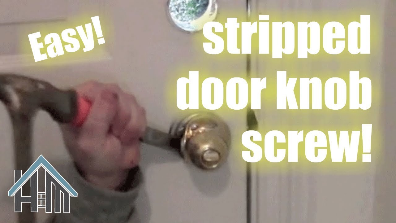 Replace a doorknob, Screw is stripped! Easy! Home Mender - YouTube