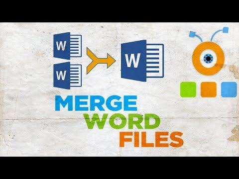 How To Merge Word Files | How To Merge Multiple Word Documents Into One