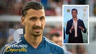 Zlatan aún no llegó a Italia y ya puso firme a Cristiano Ronaldo | Telemundo Deportes