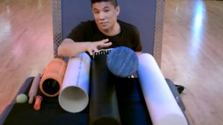 Foam Rollers:  Differences and What they do.
