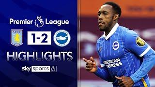 VAR drama as Welbeck & March score in Brighton win 😱| Aston Villa 1-2 Brighton | EPL Highlights