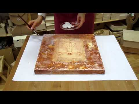 Decoupage on canvas. How to make canvas art. Decoupage tutorial DIY. Craft