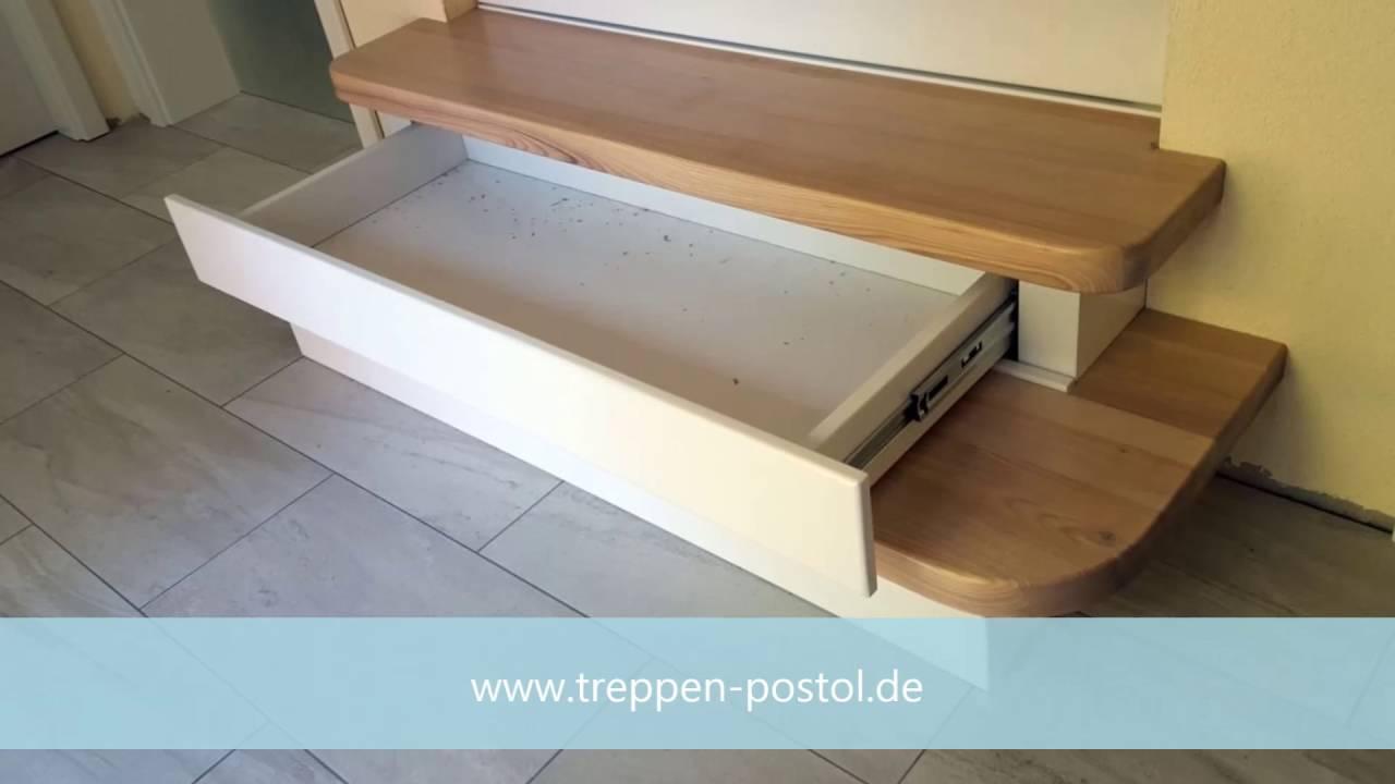 Holztreppe mit Schubladen - YouTube