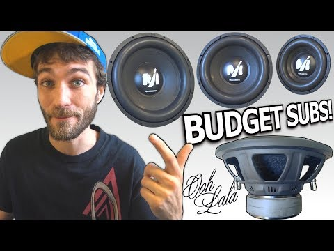 "Budget BANGIN Subwoofers! 10"" 12"" & 15 inch Deaf Bonce MACHETE 