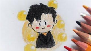 [draw with me] Eun Jiwon (은지원) of Sechskies (젝스키스)