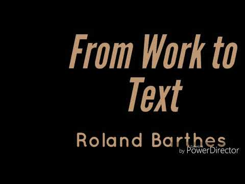 From Work To Text-Roland Barthes