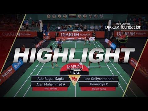 Ade Bagus S/Alan Muhammad A (Exist Jakarta) VS Leo Rollycarnando/Pramudya K (Djarum Kudus)