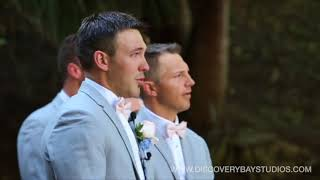 Emotional Groom Reaction To Seeing Bride