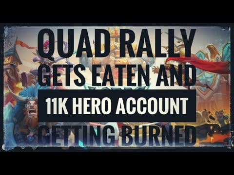 Quad Rally gets eaten and 11K hero account getting burned : Lords Mobile