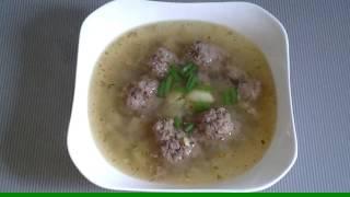 Домашний суп с фрикадельками!