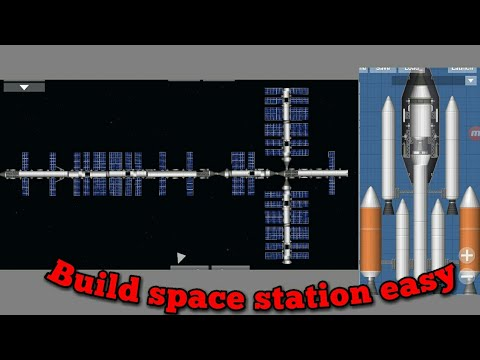 Tutorial easy to build space station and dock (Spaceflight)