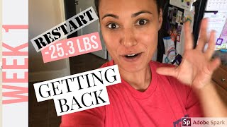 Weight Loss Journey: GETTING BACK TO IT | Week 1 (restart)