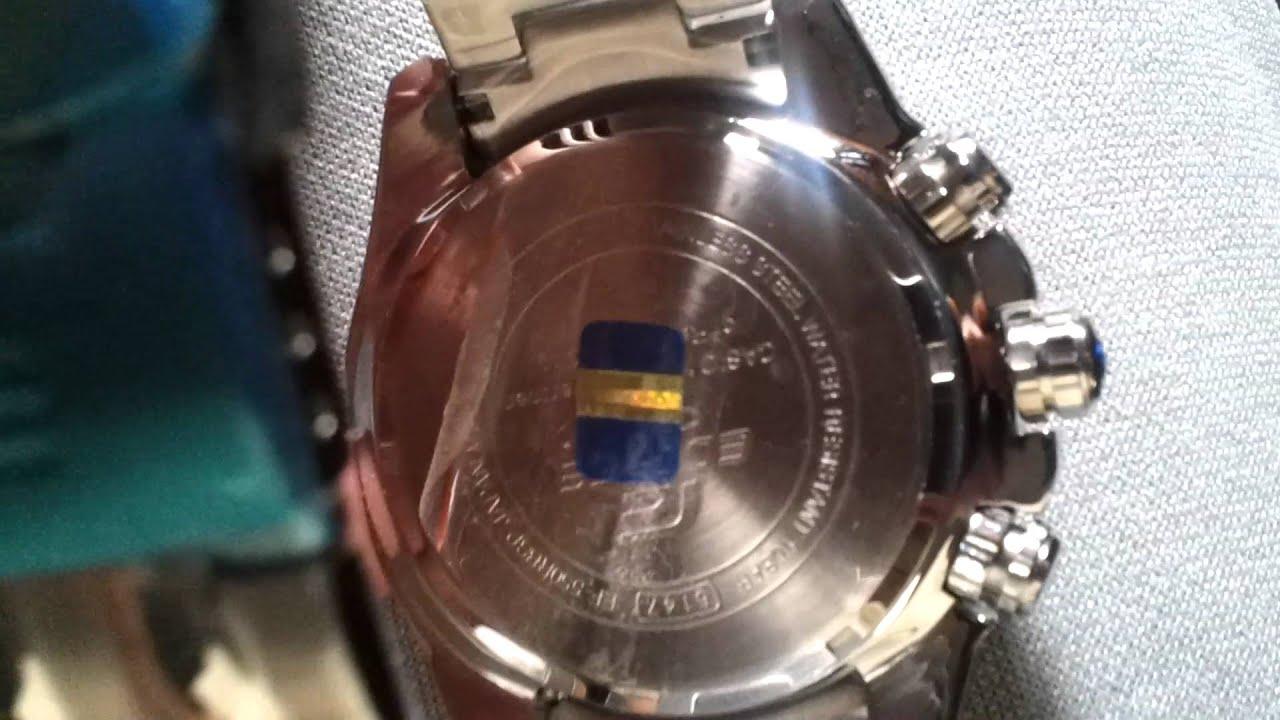ccd2df883455 Reloj Casio Edifice Ef550rbsp1av Red Bull Cronometro 1 20 - YouTube
