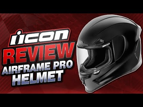 Icon Airframe Pro Helmet Review from Sportbiketrackgear.com