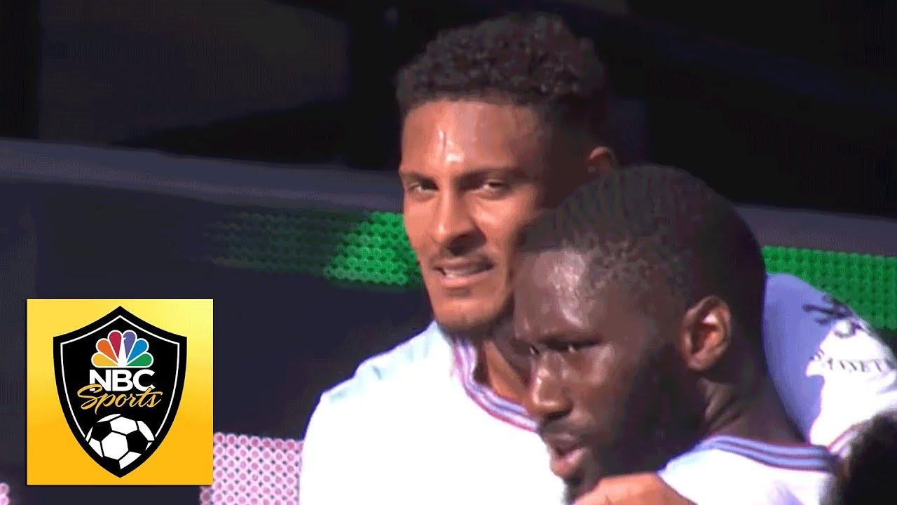Sebastien Haller scores bicycle kick to put West Ham up 3-1 v. Watford | Premier League | NBC Sports