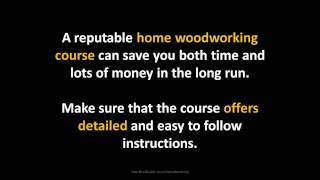 Home Woodworking Plans | Custom Woodworking Course