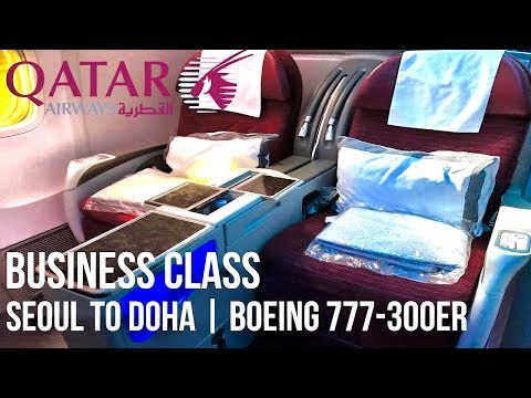 Qatar Airways Business Class Boeing 777-300ER | Seoul to Doha
