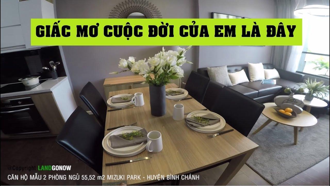 Căn hộ mẫu 2 phòng ngủ 55,52m2 Mizuki Park Nam Long, Nguyễn Văn Linh, Bình Chánh – Land Go Now ✔