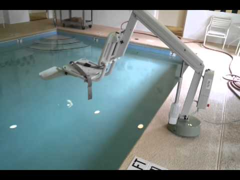 Ada pool lift chair video 8 of 8 youtube for Hydraulic chair lift for swimming pool
