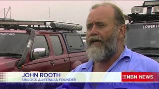 Unlock Australia - Stockton Beach Protest - NBN Television News Coverage