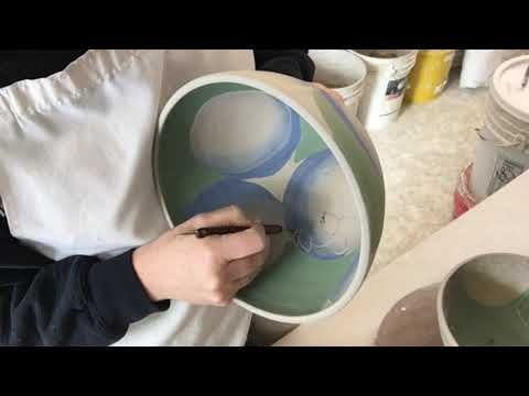 Hydrangea Pottery for the Museum of Wisconsin Art