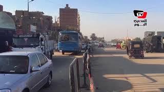 عودة حركة السير بـ«مسطرد» بعد حادث كنيسة العذراء