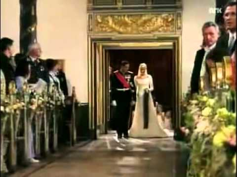 Royal Wedding, Norway - Mette-Marit Tjessem Høiby walks down the aisle.