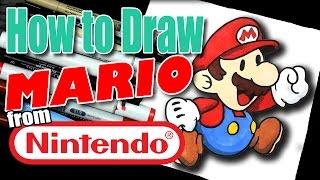 🎨 How to Draw Mario #Nintendo