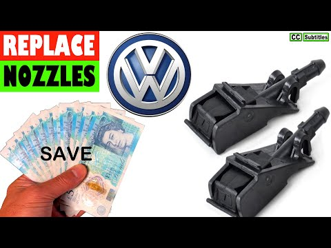 VW How to replace Windscreen Washer Jet Nozzles