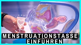 Menstruationstasse einführen & entfernen - So klappt das Einsetzen ganz einfach! (live demo)