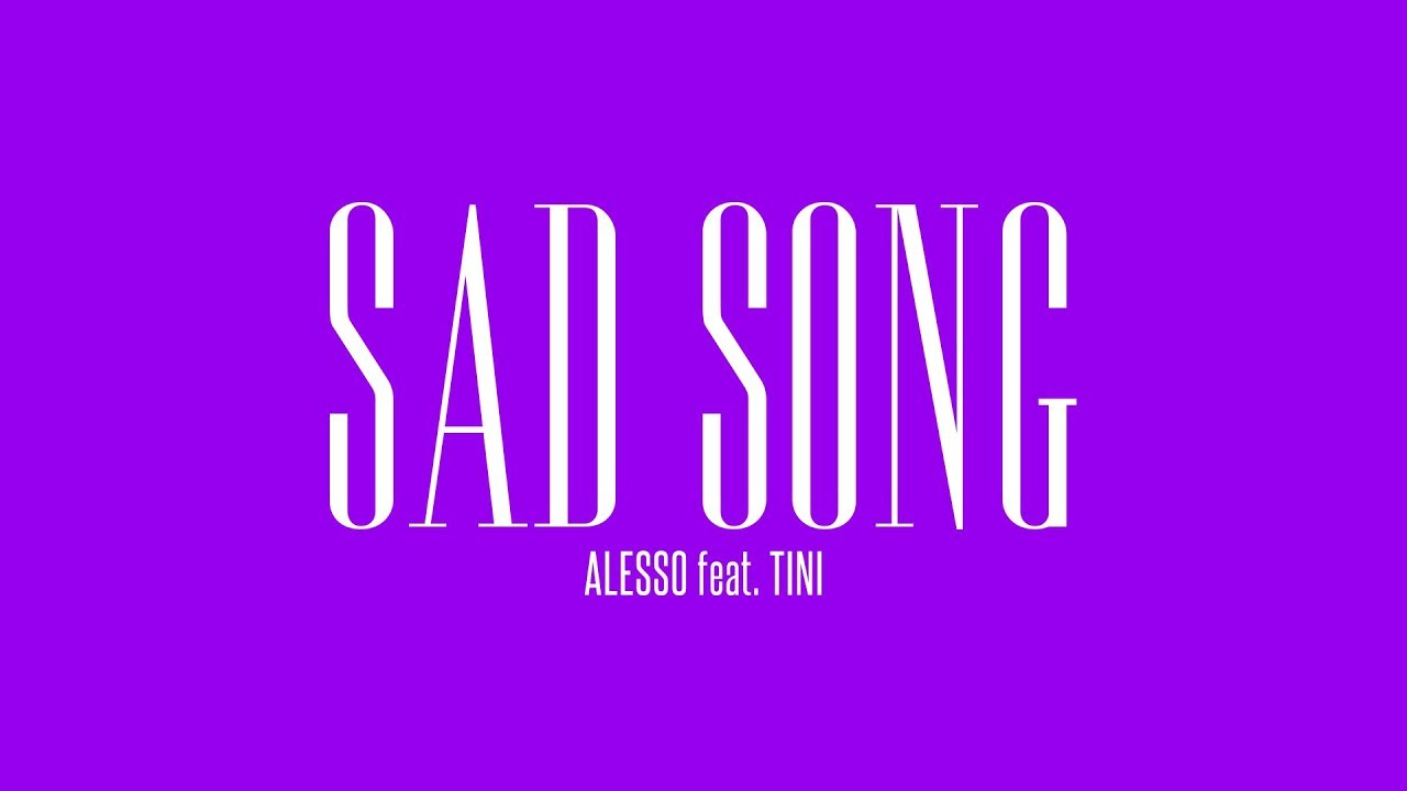 Alesso - Sad Song (feat. TINI) | Official Lyric Video