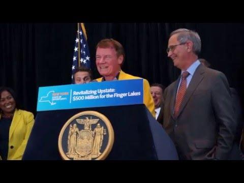 Mr. Danny Wegman jokes about his attire matching Mayor Warren