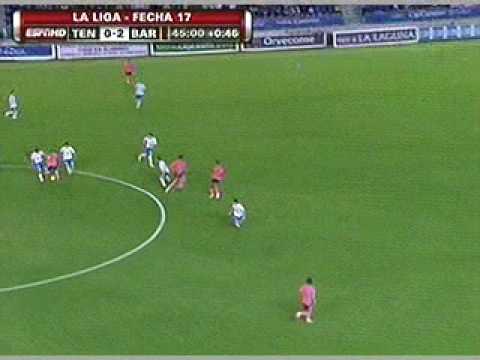 Tres goles de Messi en el Barcelona 5 - Tenerife 0