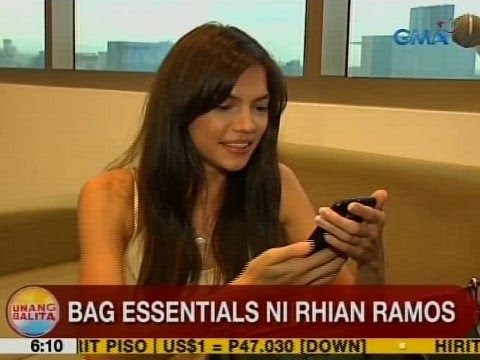 UB: Bag essentials ni Rhian Ramos