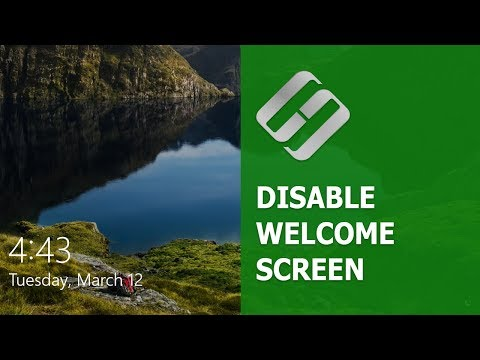 How To Disable Or Modify Welcome Screen Or Lock Screen In Windows 10, 8 Or 7 🖥️🖼️